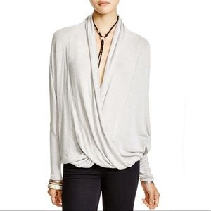 FREE PEOPLE Sheila Hacci Draped Front Top